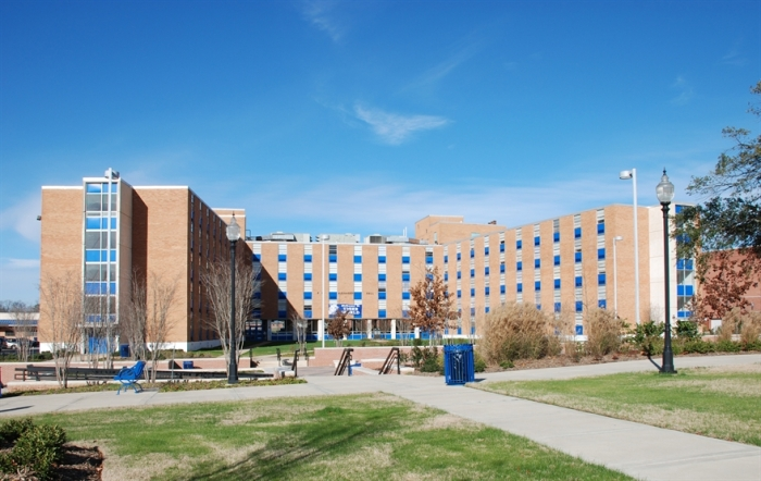 Alexander Hall, Jackson State University (1963). Designated Mississippi Landmark Jan. 20, 2012. Photo by  S. Tietz, MDAH, 1-8-2009.