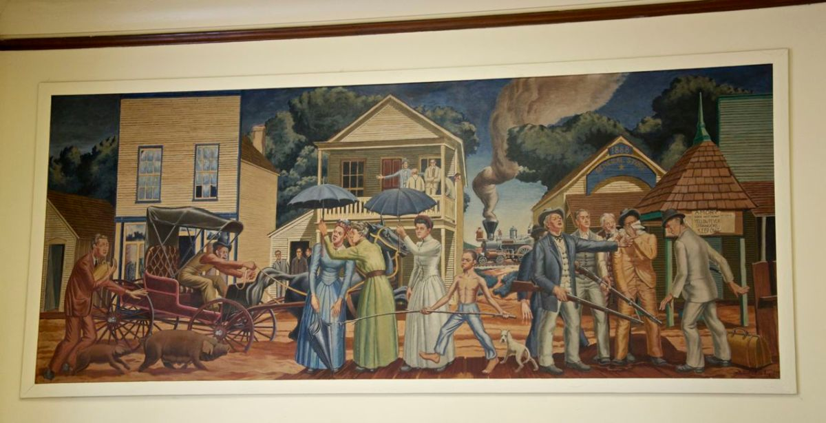 Suzassippi's Mississippi: Amory Post Office Mural