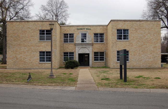 Cassity Hall (1948, R.W. Naef, archt.). Designated Mississippi Landmark July 27, 2012.
