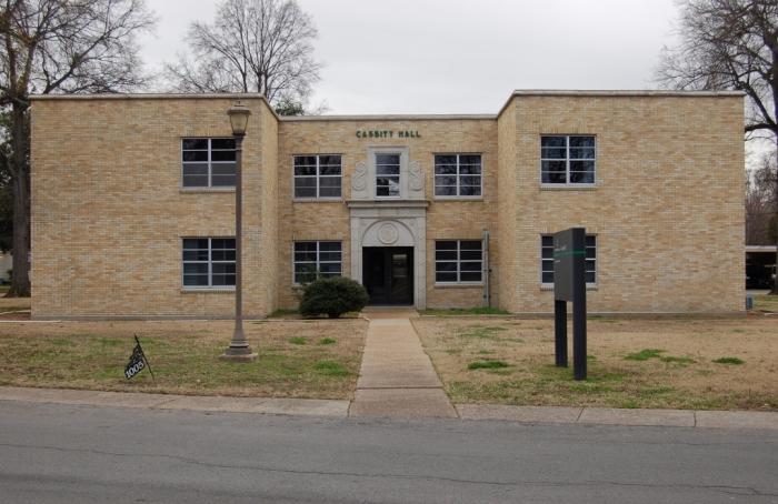 Cassity Hall (1948, R.W. Naef, archt.). Designated Mississippi Landmark July 27, 2012.