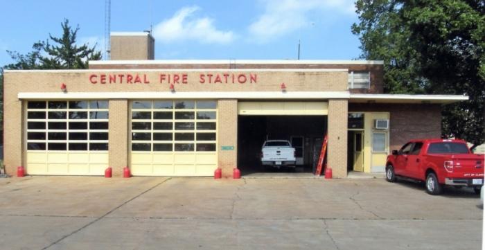 Clarksdale Central Fire Station (1957). Designated Mississippi Landmark Oct. 19, 2012.