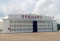 Grenada Airport Hangar (1941). Designated Mississippi Landmark July 27, 2012. Photo by City of Grenada, downloaded from MDAH HIstoric Resources Database, 12-25-2012.