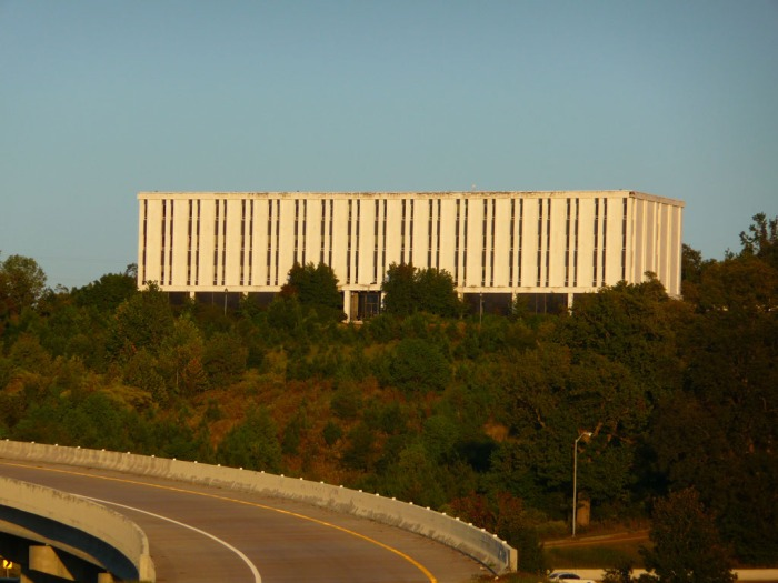 Mississippi Checmical Company Headquarters (1968-69, Dean & Pursell, archts.) A landmark on the bluff at Yazoo City, coming in from the Delta. Demolished January 2012.
