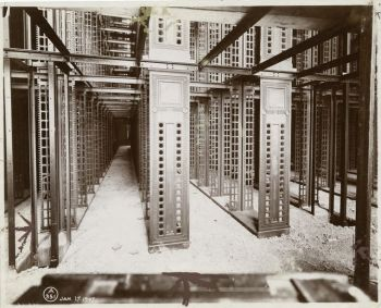 New York Public Library stacks under construction, 1907. Courtesy NYPL