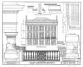 "Porterfield House (""Shamrock""), Vicksburg. Elevation and details by HABS team, Jan/Feb 1934. Edward J. Nelson, Tom Biggs, A. Hays Town, delineators."