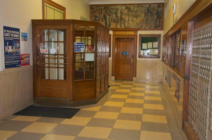 lobby and wooden vestibule