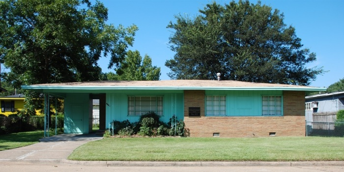 Medgar Evers House, Jackson, Hinds County.  Photo by J. Baughn, MDAH 09-07-2008 Retrieved from MDAH HRI database 2-20-13