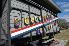 Merci Train Car Dedication. Photo courtesy of MDAH