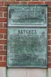 """In this the 224th year since its founding, Natchez dedicates to the people the Natchez-Vidalia Bridge. A. D. 1940"