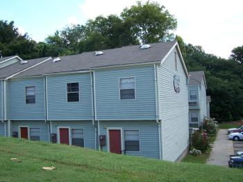 East Elevation of remodeled Fredella Village Apartments from Vicksburg Re  Survey 2007 2 Locust Street East side S to N