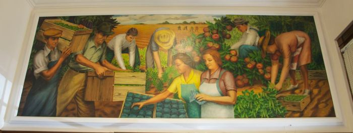 """Harvest"" by Henry La Cagnina. Image used with permission of United States Postal Service."