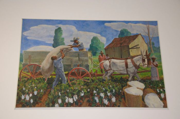 """""""Cotton Harvest""""Image used with permission of USPS"""