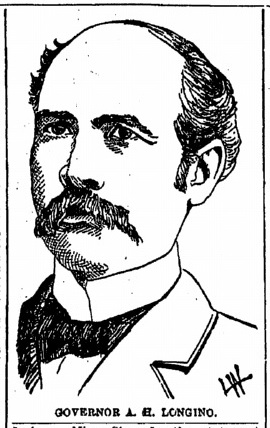 Lithograph of Gov. Longino.  Detail from 01-08-1902 Time-Picayune