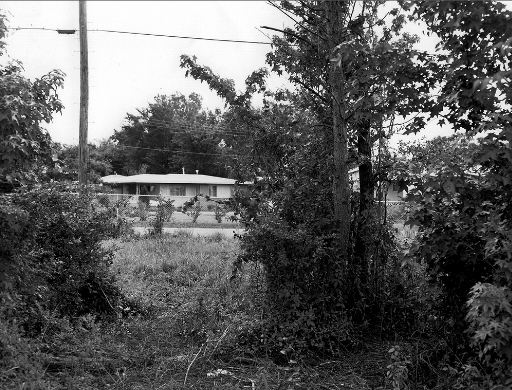 Medgar Evers House as seen from the vantage point of Byron de la Beckwith. Photo via A Tribute to Medgar Evers