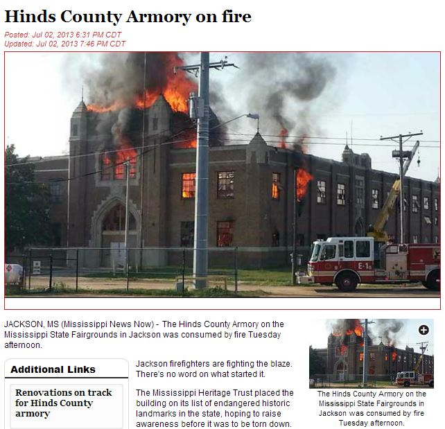 HindsCountyArmoryFire