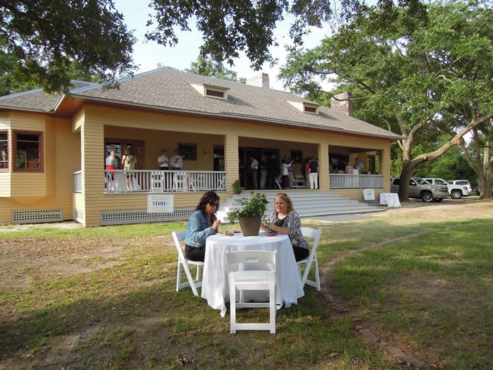 The Charnley-Norwood House Strategic Planning Symposium June 28 concluded with a dinner on the grounds of the recently restored house on East Beach in Ocean Springs. (Photo by Susan Ruddiman/Mississippi Heritage Trust)