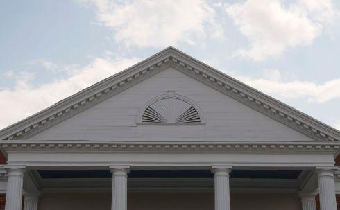 Pediment detail