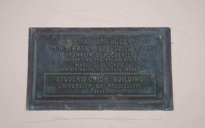 Student Union Building placque