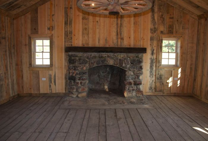 Original fireplace and mantel