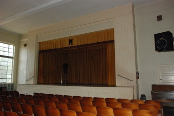 Mendenhall School auditorium (photo courtesy MDAH Historic Resources database, taken 8-4-2011 by Jennifer Baughn, MDAH)