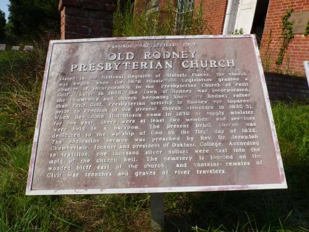 If the weeds were any higher they would engulf the historic markers.