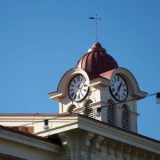 Cupola with clock, Hardeman County