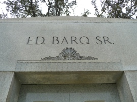 Detail, Ed Barq Sr. Mausoleum Biloxi, Harrison County 3-17-2013