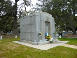 North west elevation, Ed Barq Sr. Mausoleum Biloxi, Harrison County 3-17-2013