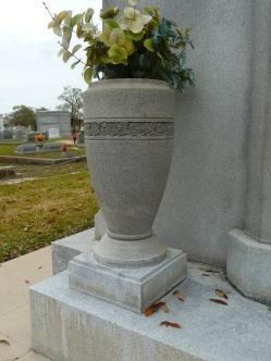 Planter, Ed Barq Sr. Mausoleum Biloxi, Harrison County 3-17-2013