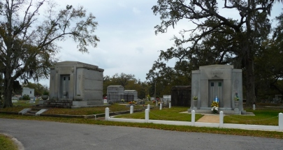John Mavar Sr. and Ed Barq Sr. Mausoleums Biloxi, Harrison County 3-17-2013