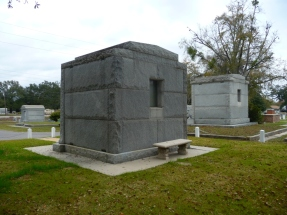 John Mavar Sr. and Ed Barq Sr. Mausoleums south elevation Biloxi, Harrison County 3-17-2013