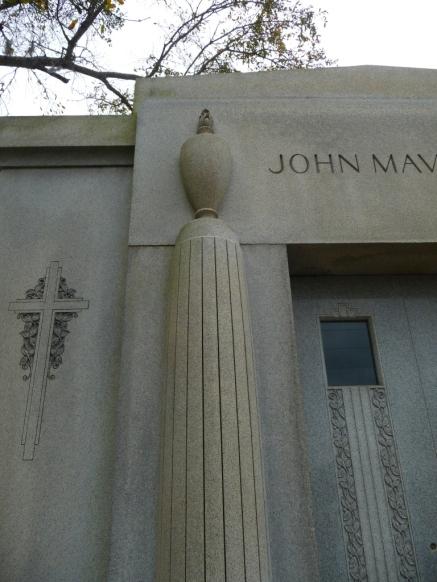 Detail, John Mavar Sr.Mausoleum Biloxi, Harrison County 3-17-2013