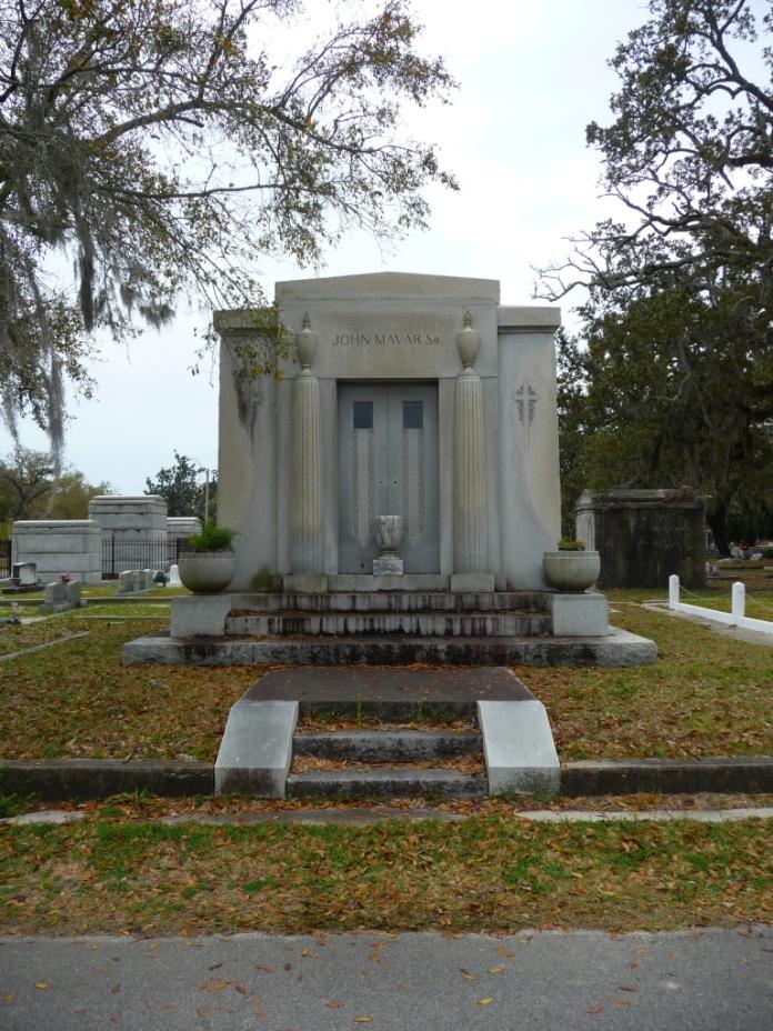 North Elevation John Mavar Sr. Mausoleum Biloxi, Harrison County 3-17-2013