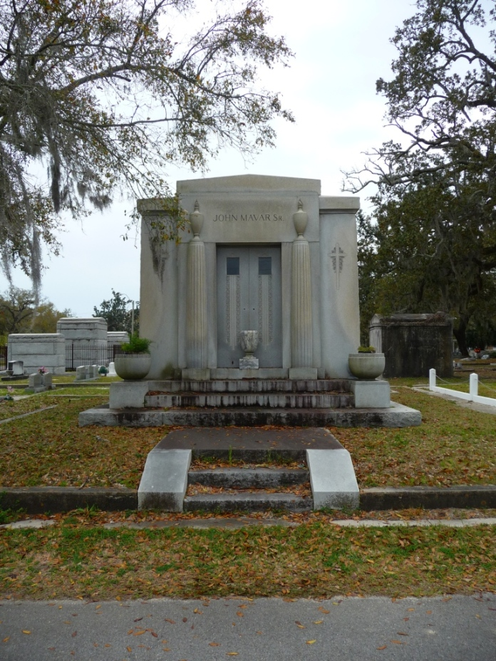North Elevation John Mavar Sr. Mausoleum Biloxi, Harrison County 3-17-2013