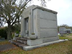 North west elevation, John Mavar Sr. Mausoleum Biloxi, Harrison County 3-17-2013