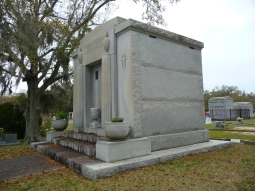 North west elevation, John Mavar Sr. Mausoleum Biloxi, Harrison County 3-17-2013