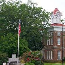 Cupola with clock, Marshall County