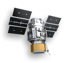"""QuickBird"" Digital Globe Inc. Satellite. launched in 2001. Quickbird from www.digitalglobe.com accessed 10-14-2013"