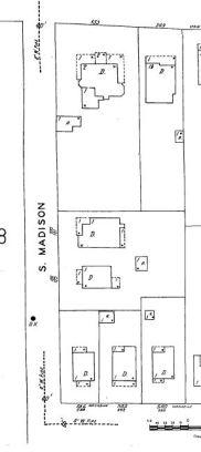 Spain House block 1949 sanborn map.