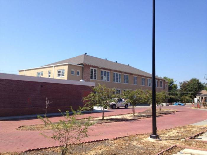 Eureka School, roof rebuilt, September 2013. Photo courtesy MDAH, Historic Preservation Division.