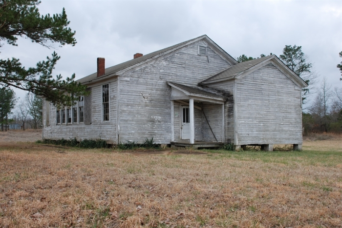 Antioch Colored School, Tippah County (1948). Designated Oct. 25, 2013. Photo courtesy MDAH, J. Baughn, February 26, 2009. Retrieved January 1, 2013 from Mississippi Historic Resources Inventory (HRI) Database.