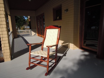 The Mississippi Department of Archives and History commissioned six rocking chairs to be made for the Charnley-Norwood House that are replicas of the ones that used to sit on the front porch around 1900.