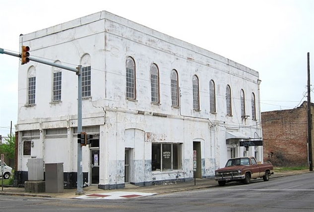 "Fielder & Brooks Drug Store/COFO Building, 2505 Fifth Street, Meridian. One of Mississippi's most significant Civil Rights sites, the office of Mickey Schwerner, James Chaney, and Andrew Goodman before they were killed near Philadelphia, MS, in 1964. See ""Fielder and Brooks Drug Store"" and ""Meridian's Nationally Significant COFO Buildings Comes Down for backstory.""  photograph by Mingo Tingle, MDAH Historic Resources Inventory."