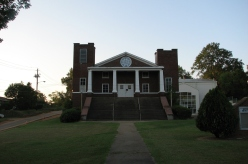 Front Façade at Sunset, Griffin Chapel Methodist Church, Starkville, August 2007