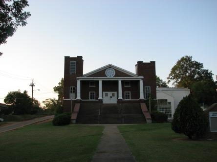 Front Façade, Griffin Chapel Methodist Church, Starkville, August 2007