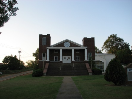 Front Façade, Griffin Chapel Methodist Church, Starkville, August 2007