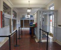 Lobby with original vestibule
