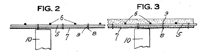 Figs. 2 and 3 from Patent application 1597507 Steeltex wire lath. Issued Aug. 24, 1926