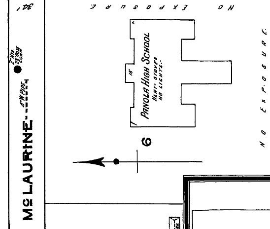 Panola High School. Sardis, Panola County. Sanborn Map. Dec. 1915