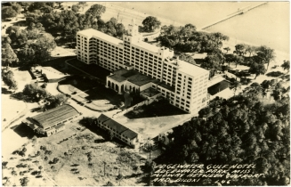 From Edgewater Gulf Hotel, Edgewater Park, Miss. Midway between Gulfport and Biloxi. Sysid 91885. Scanned as tiff in 2009/07/31 by MDAH. Credit: Courtesy of the Mississippi Department of Archives and History